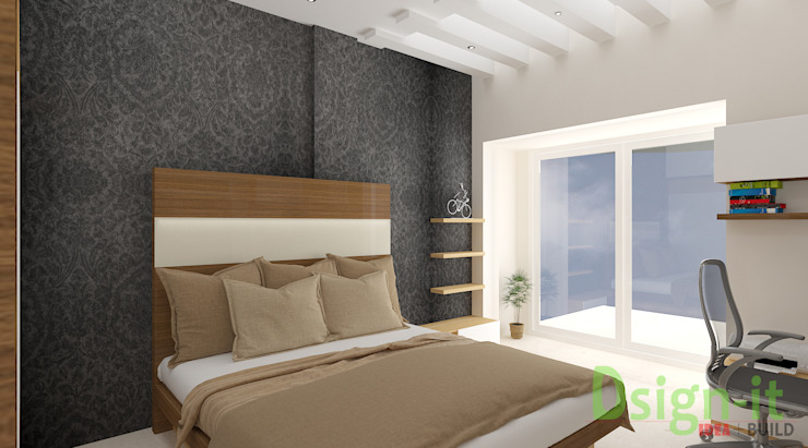 PROJECT-1 ( MR. Sunil , HSR LAYOUT ) Asian style bedroom by Dsign-it Asian