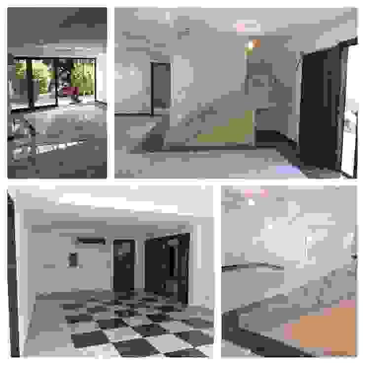 RESIDÊNCIA BENFICA Corredores, halls e escadas modernos por Arquitetos Brasil Moderno