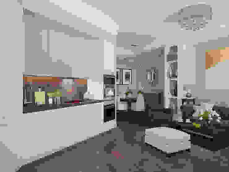 Визуализации проекта Удалёнки в Москве Кухня в стиле модерн от Alyona Musina Модерн