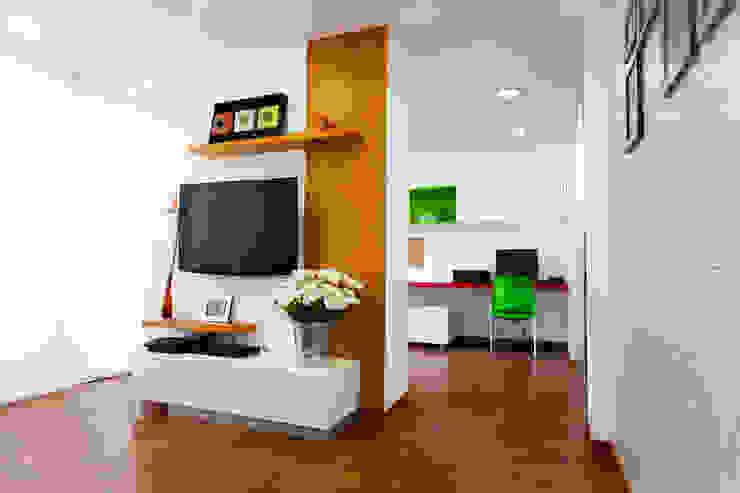 Departamento Piri Salas multimedia de estilo moderno de Oneto/Sousa Arquitectura Interior Moderno