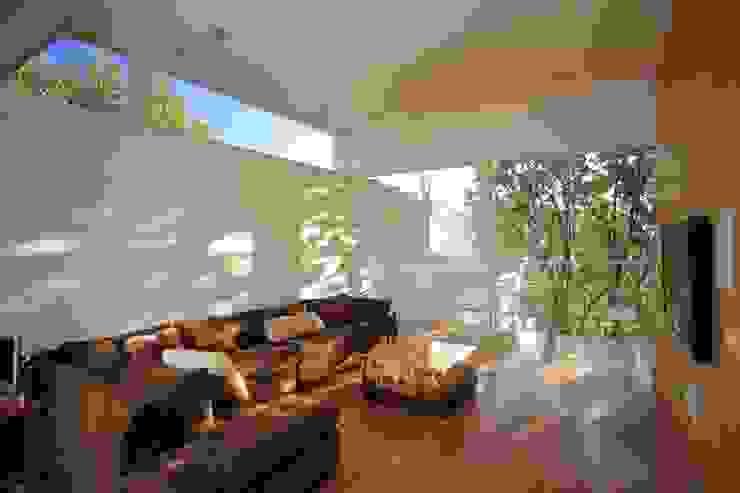 ミニマルデザインの 多目的室 の Echauri Morales Arquitectos ミニマル 木 木目調