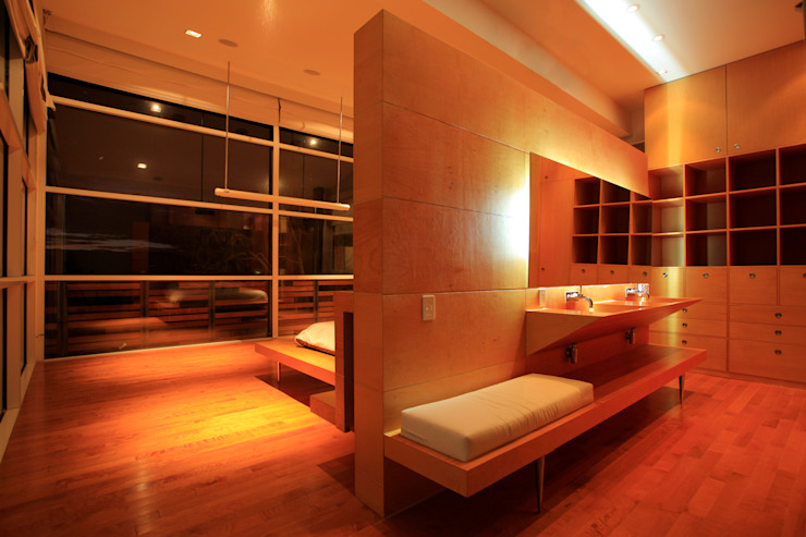 Recamára principal Dormitorios de estilo minimalista de Echauri Morales Arquitectos Minimalista Madera Acabado en madera