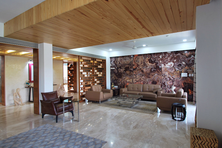 Ahaan Villa—Ahmedabad OPENIDEAS Modern living room