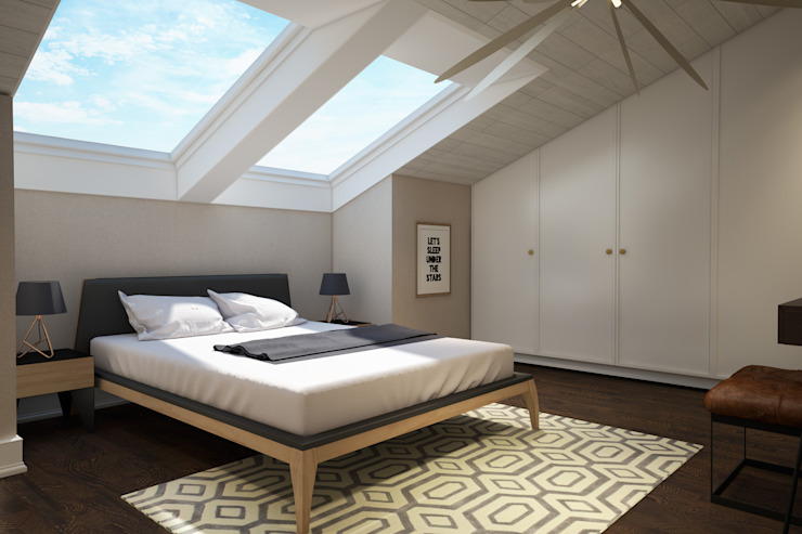 Scandinavian style bedroom by yücel partners Scandinavian