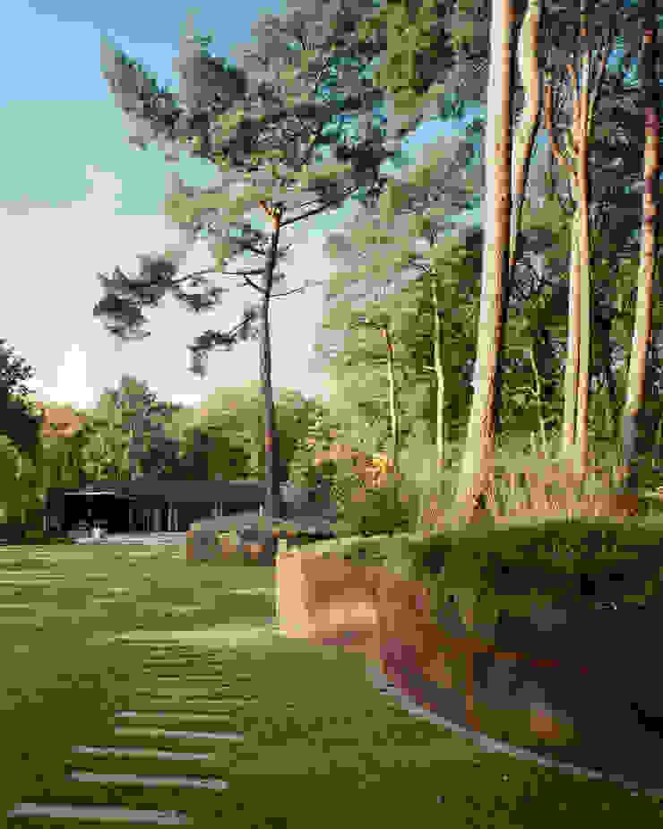 Nieuwbouw woning familie Zuthof Moderne tuinen van bv Mathieu Bruls architect Modern