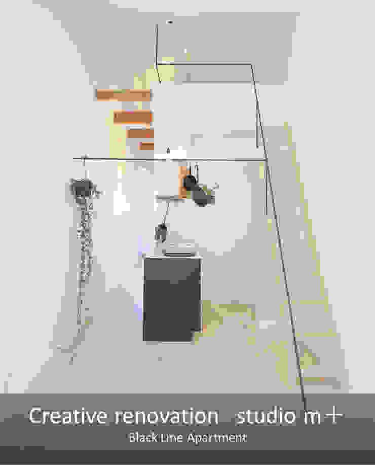 studio m+ by masato fujii Modern Living Room Iron/Steel White