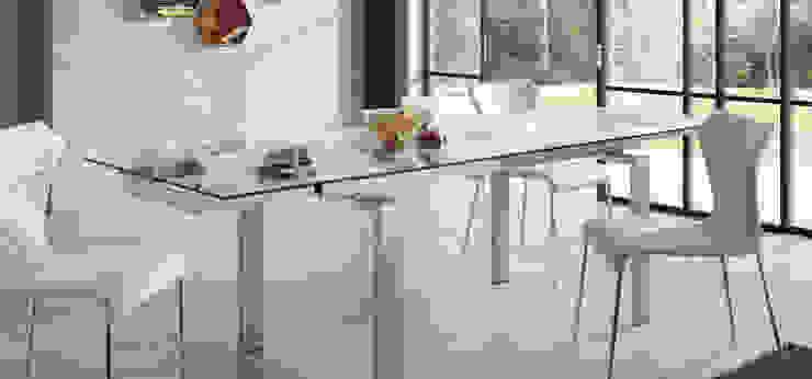 Mesas de refeições de vidro extensíveis Extendable glass dining tables www.intense-mobiliario.com Anoroc http://intense-mobiliario.com/product.php?id_product=969 por Intense mobiliário e interiores; Moderno