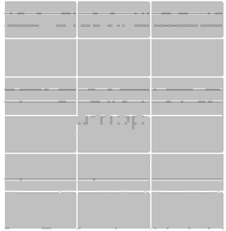 Multi-Tira , Branco Dunas Desbastado, s/Alheta Paredes e pisos modernos por Amop Moderno