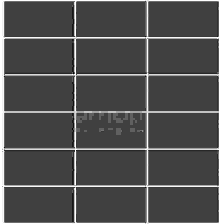Multi-Tira, Negro Fráguas Desbastado, s/Alheta Paredes e pisos modernos por Amop Moderno