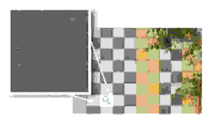 Mosaikus, Negro Fráguas Paredes e pisos modernos por Amop Moderno