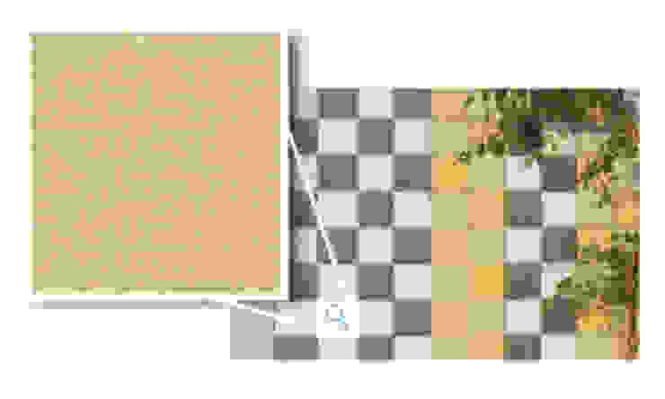 Mosaikus, Amarelo Ouro Paredes e pisos modernos por Amop Moderno