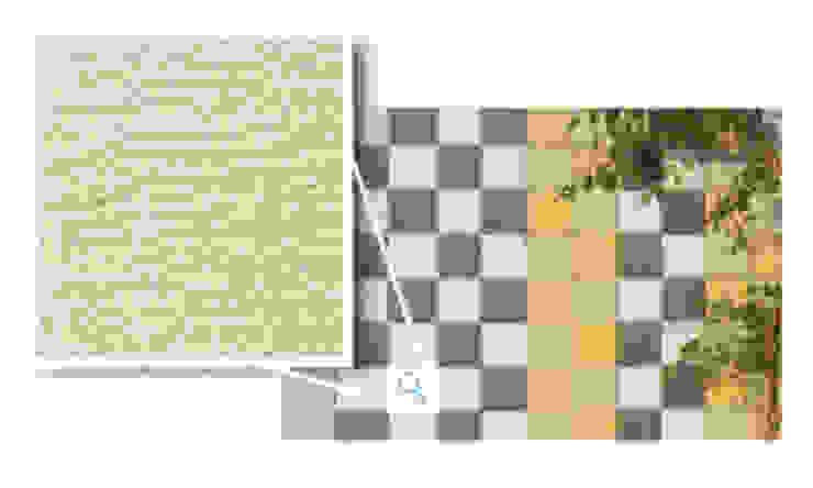 Mosaikus, Castanho Claro Paredes e pisos modernos por Amop Moderno