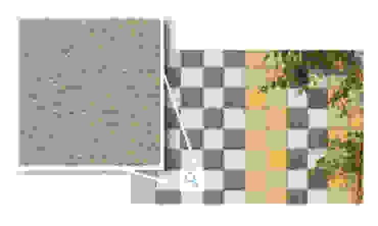 Mosaikus, Castanho Escuro Paredes e pisos modernos por Amop Moderno
