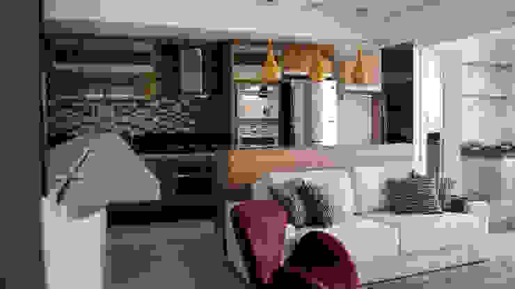 Vista Geral Sala. Salas de estar modernas por MEM Arquitetura Moderno