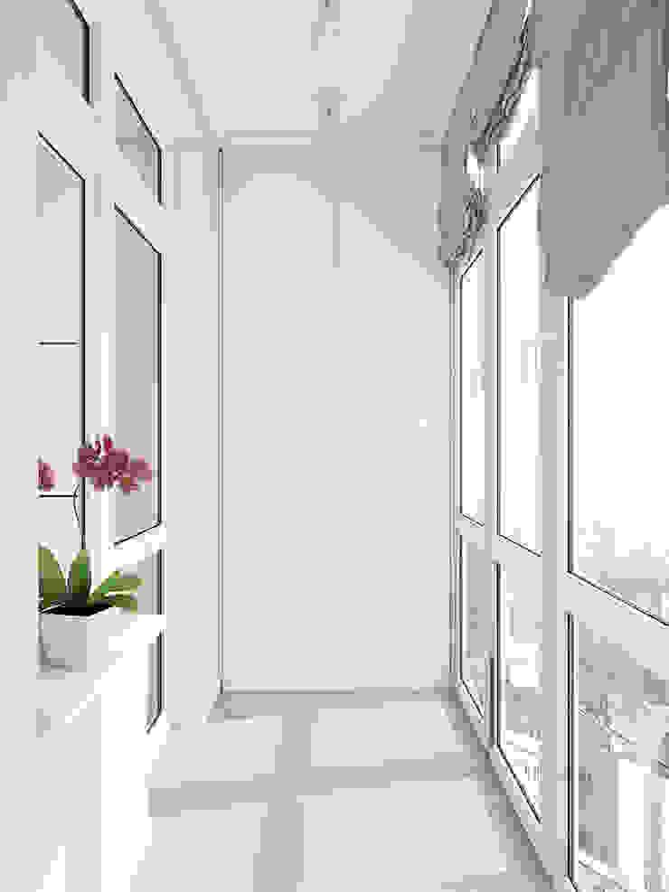 Balcon, Veranda & Terrasse classiques par Tatiana Zaitseva Design Studio Classique