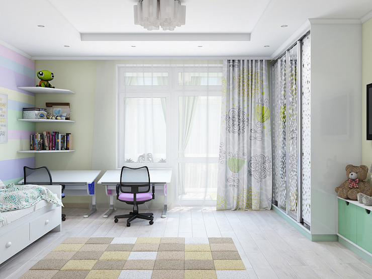 Dormitorios infantiles de estilo clásico de Tatiana Zaitseva Design Studio Clásico