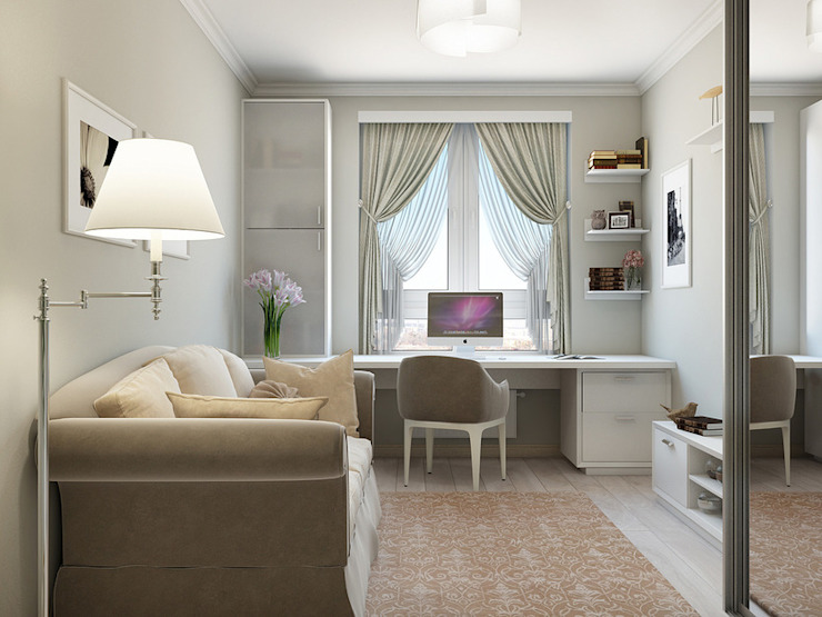 Dormitorios de estilo clásico de Tatiana Zaitseva Design Studio Clásico