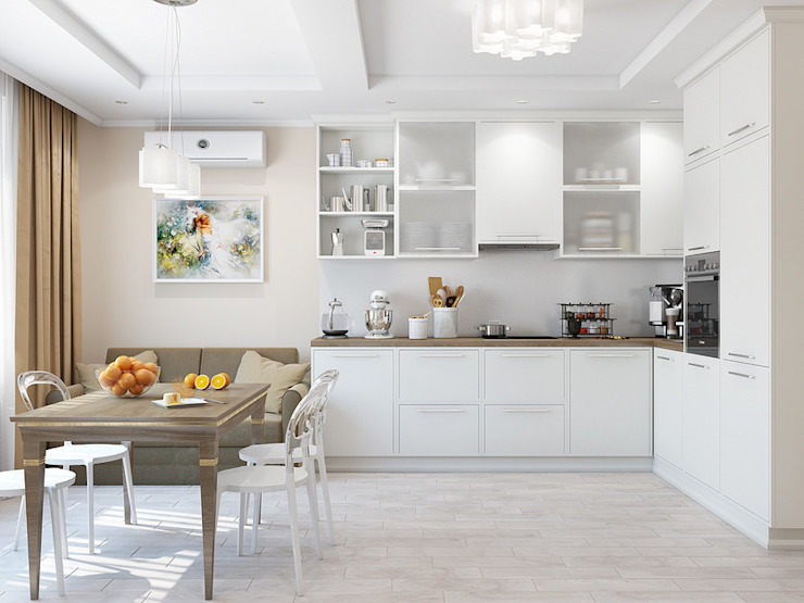 Cocinas de estilo clásico de Tatiana Zaitseva Design Studio Clásico