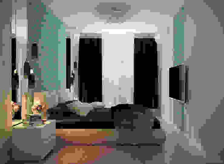 Kamar Tidur Minimalis Oleh Студия интерьерного дизайна happy.design Minimalis