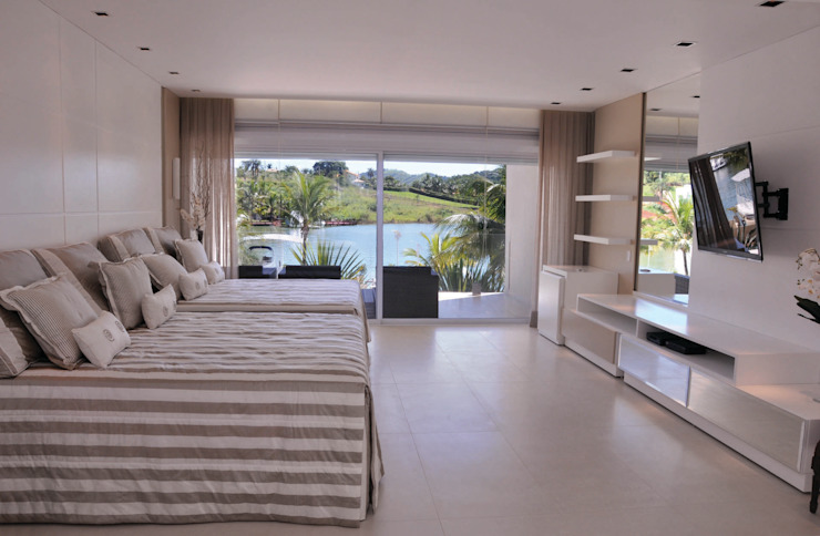 A/ZERO Arquitetura Camera da letto moderna