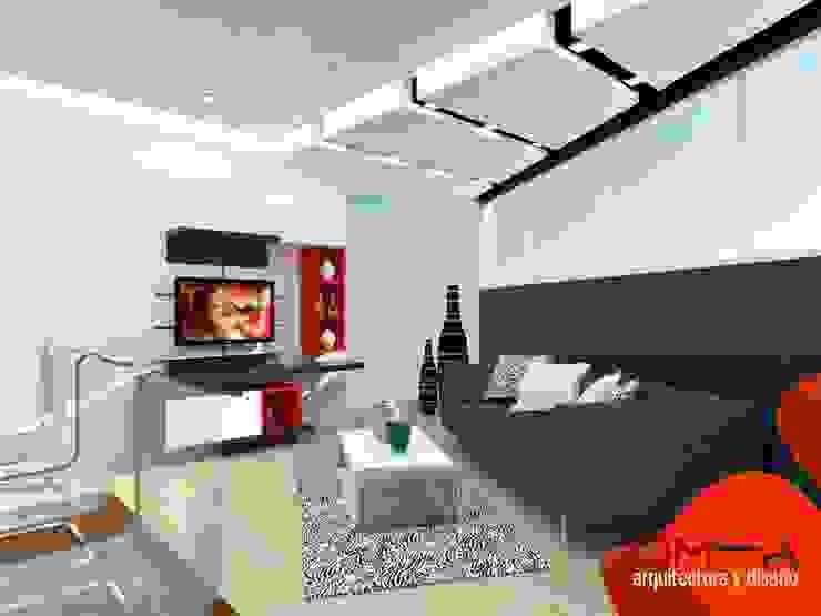 om-a arquitectura y diseño Minimalist living room