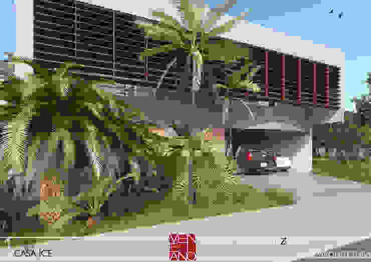 FACHADA STUDIO LUIZ VENEZIANO Casas modernas
