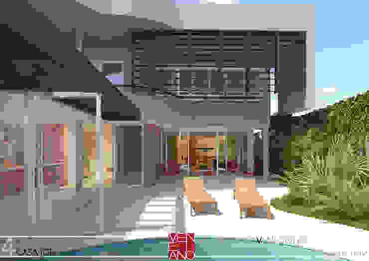 LAZER STUDIO LUIZ VENEZIANO Varandas, alpendres e terraços modernos