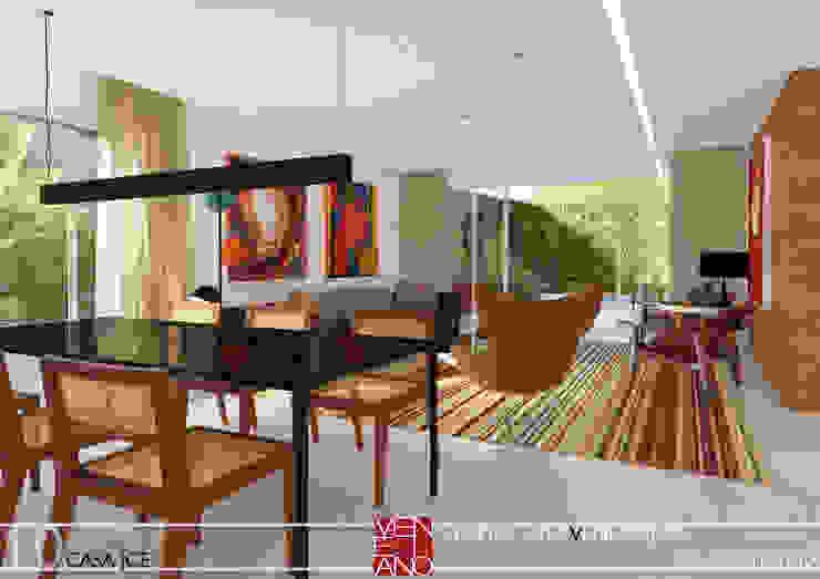 LIVING STUDIO LUIZ VENEZIANO Salas de estar modernas