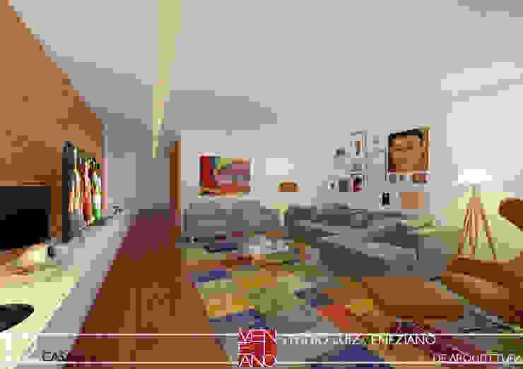 Modern media room by STUDIO LUIZ VENEZIANO Modern