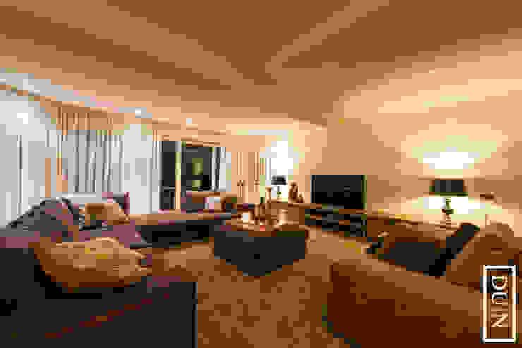 DUIN INTERIOR Modern Living Room Wood Brown