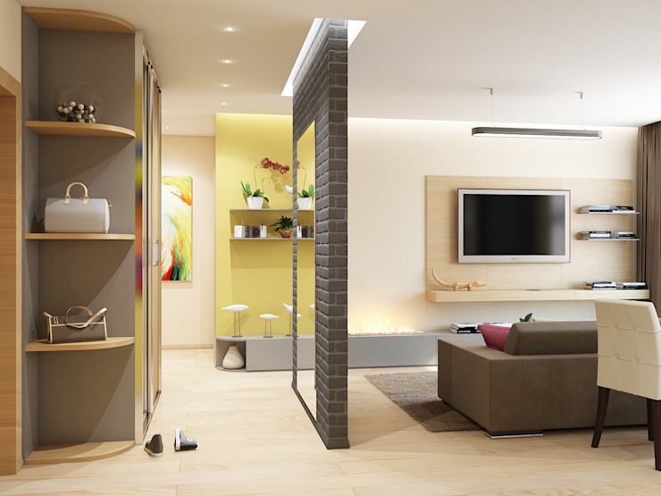Couloir, entrée, escaliers minimalistes par Tatiana Zaitseva Design Studio Minimaliste