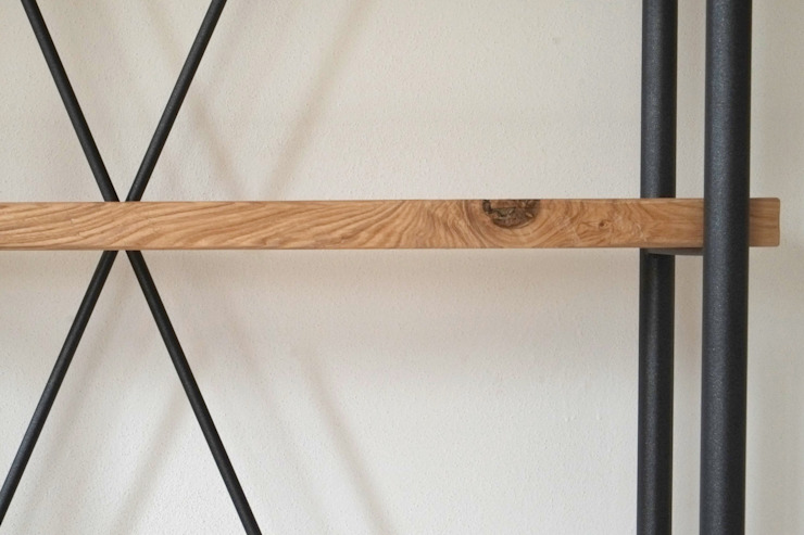 Contesini Studio & Bottega Прихожая, коридор и лестницыПолки и комоды Твердая древесина Эффект древесины