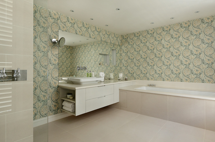 BATHROOMS: CONTEMPORARY BATHROOMS Cue & Co of London Baños de estilo moderno