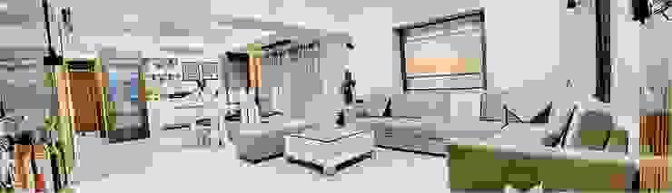 2BHK RESIDENCE Modern living room by HK ARCHITECTS Modern