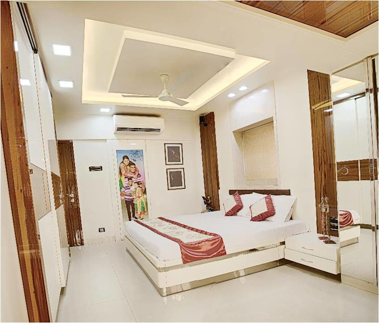 2BHK RESIDENCE HK ARCHITECTS Modern style bedroom