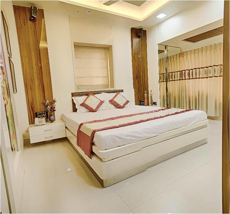2BHK RESIDENCE Modern style bedroom by HK ARCHITECTS Modern