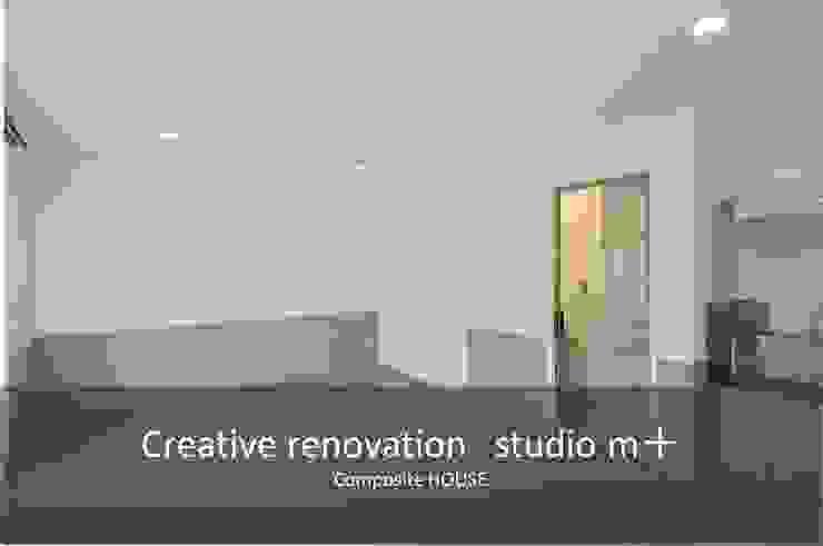 studio m+ by masato fujii Skandinavische Wohnzimmer Grau