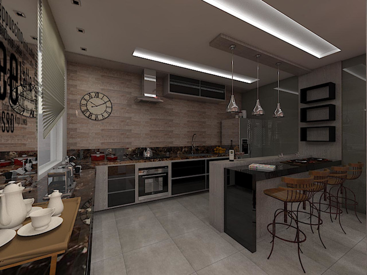 Rustic style kitchen by Plano A Studio Rustic