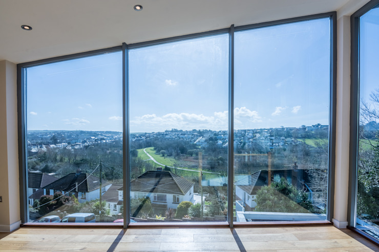 Mallards View, Devon Livings de estilo moderno de Trewin Design Architects Moderno