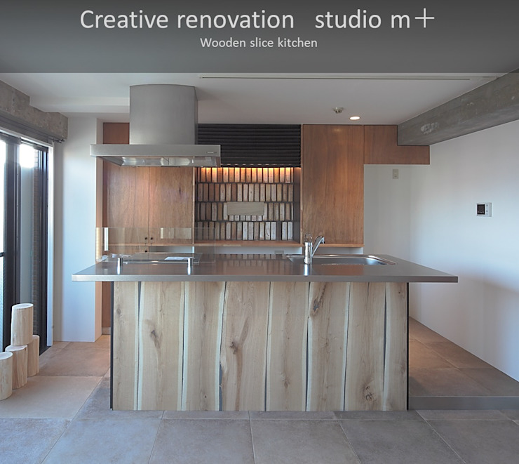 Industrial style kitchen by studio m+ by masato fujii Industrial