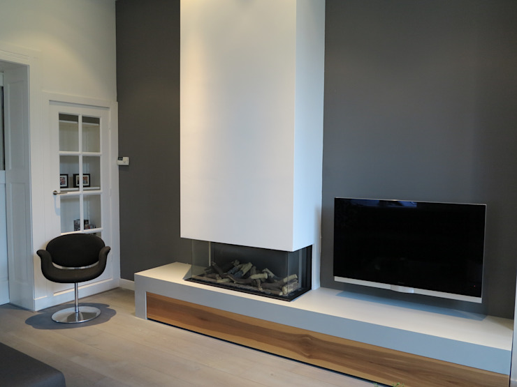 maatwerk schouw/plateau gashaard Faber: modern  door ARX-interieur, Modern