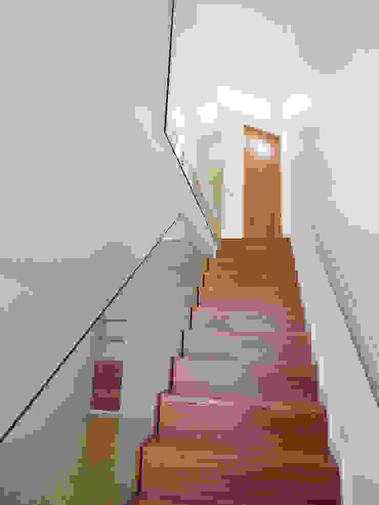 Pasillos, vestíbulos y escaleras de estilo ecléctico de GAAPE - ARQUITECTURA, PLANEAMENTO E ENGENHARIA, LDA Ecléctico Vidrio
