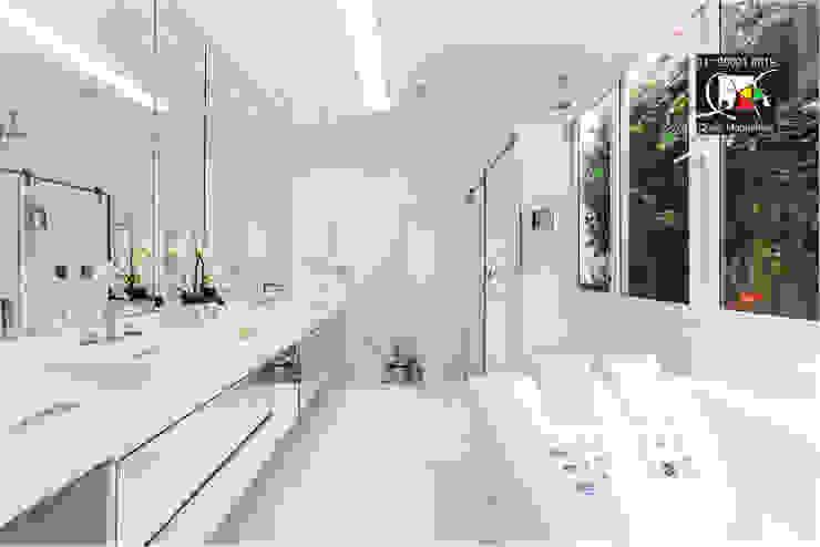 Banho master Banheiros modernos por Queiti Magalhães Arquitetura e Decorações Moderno