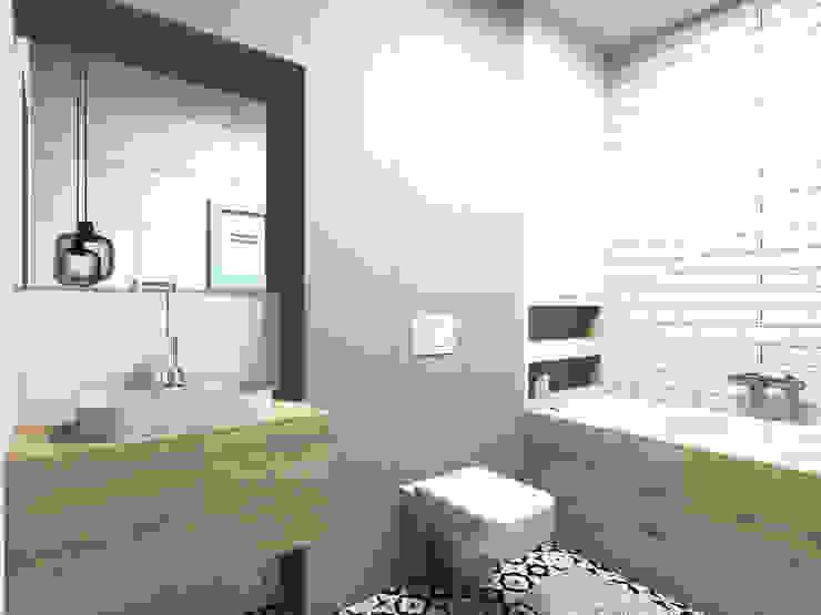 Apartament na Ochocie | Warszawa | Łazienka: styl , w kategorii Łazienka zaprojektowany przez Comfytura Studio,Skandynawski Płyta MDF