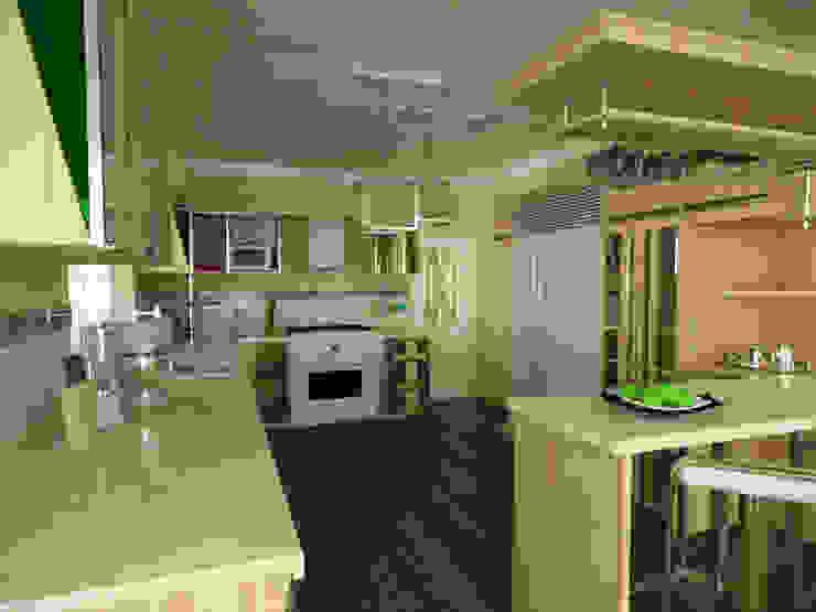 Cocina, vivienda unifamiliar Cocinas de estilo moderno de Rbritointeriorismo Moderno