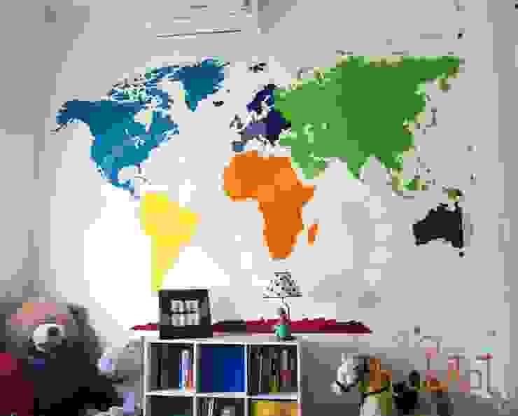 Vinil Decortavio en Cuarto de Bebé de H-abitat Diseño & Interiores Moderno