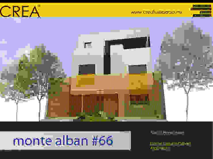 Fachada Estudios y despachos modernos de CREATUESPACIO.MX Moderno Concreto