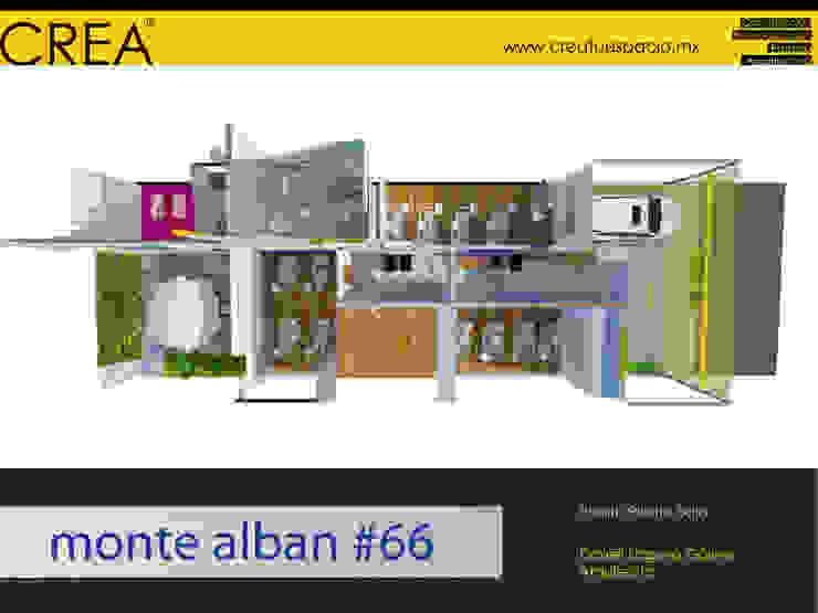 Monte Albán #66 Salones modernos de CREATUESPACIO.MX Moderno Madera Acabado en madera