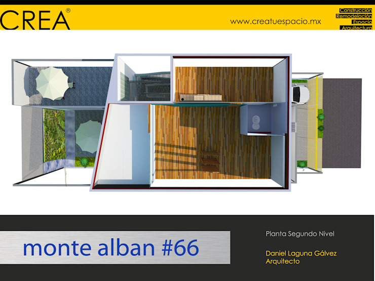 Monte Albán #66 Estudios y despachos modernos de CREATUESPACIO.MX Moderno Madera Acabado en madera