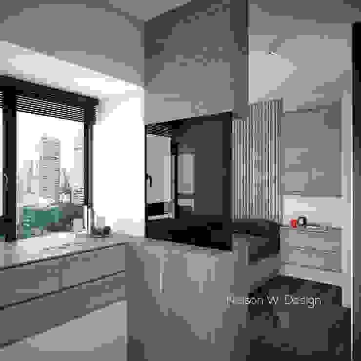 The Long Beach | Hong Kong:  Bedroom by Nelson W Design, Modern